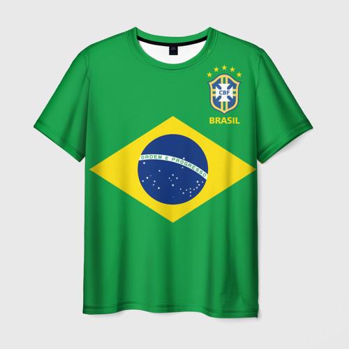 Мужская футболка 3D Бразилия, форма