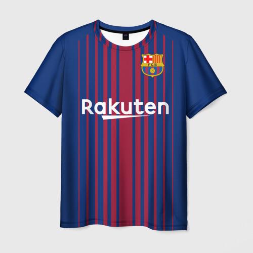 Мужская футболка 3D Iniesta 17-18