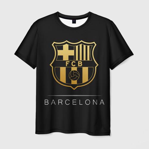 Мужская футболка 3D Barcelona Gold Edition