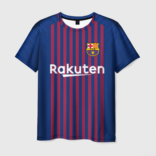Мужская футболка 3D Messi home 18-19