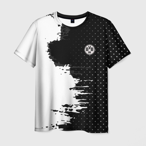 Мужская футболка 3D Borussia uniform black 2018