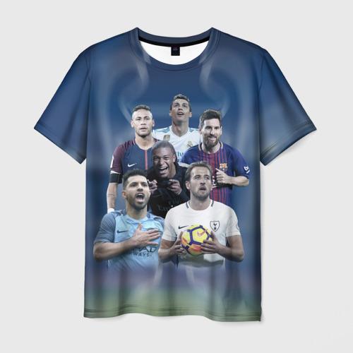 Мужская футболка 3D Звезды футбола