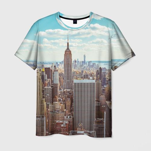 Мужская футболка 3D Столица мира (Нью-Йорк)
