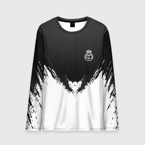 Мужской лонгслив 3D Real Madrid black 2018