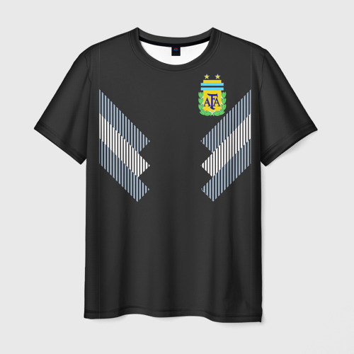 Мужская футболка 3D Аргентина ЧМ 2018 гостевая