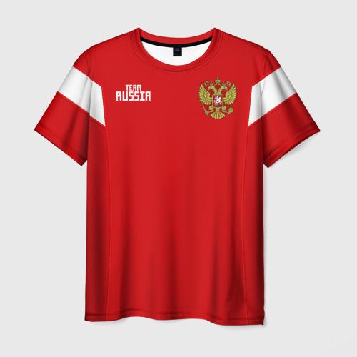 Мужская футболка 3D Сборная России 2018 Смолов