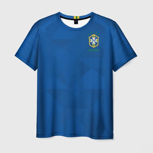 Мужская футболка 3D Бразилия 2018 гостевая