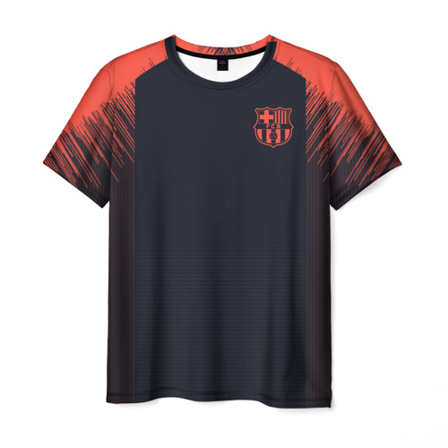 Мужская футболка 3D Barcelona Training 18-19