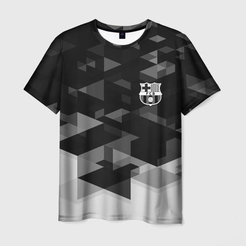 Мужская футболка 3D Barcelona Geometry Sport