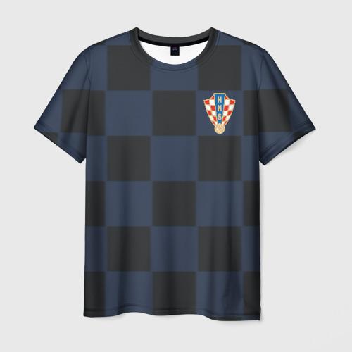 Мужская футболка 3D Хорватия форма гостевая 2018