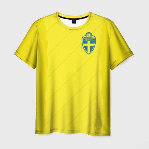 Мужская футболка 3D Швеция домашняя форма ЧМ 2018