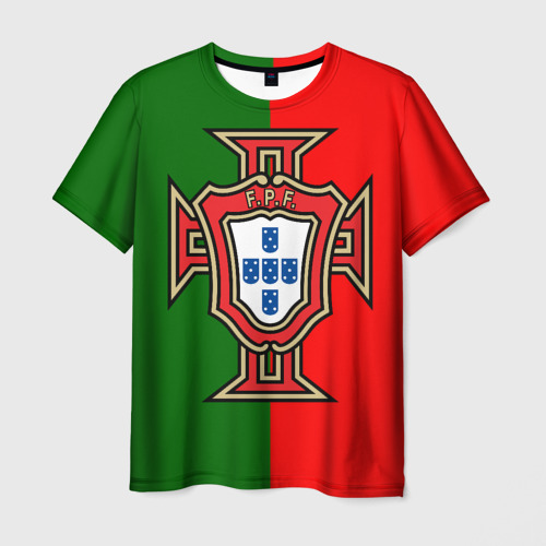 Мужская футболка 3D Сборная Португалии флаг