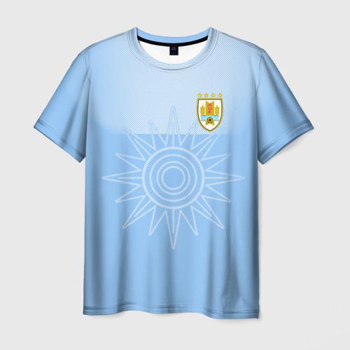 Мужская футболка 3D Уругвай домашняя форма