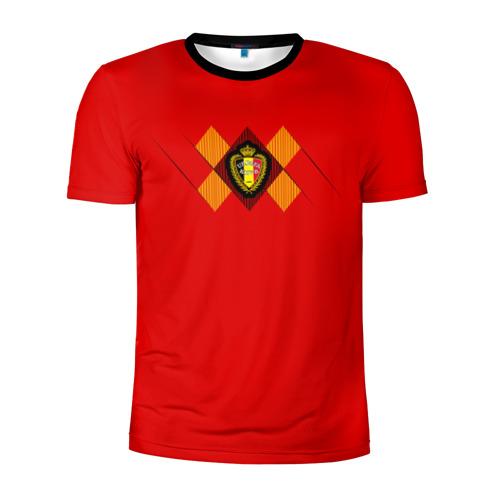 Мужская футболка 3D спортивная Сборная Бельгии Home 2018