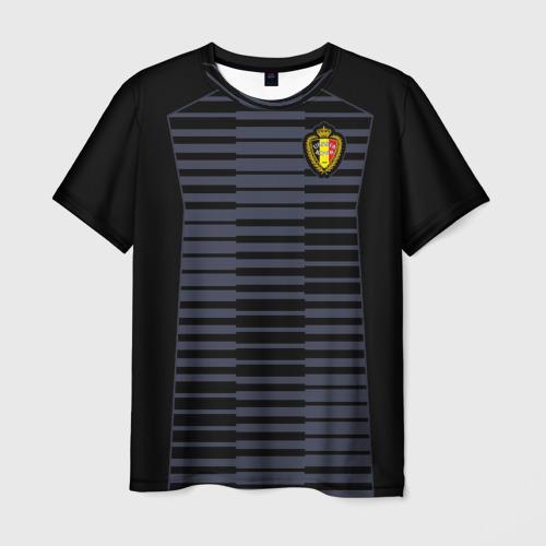 Мужская футболка 3D Сборная Бельгии Goalkeeper 2018