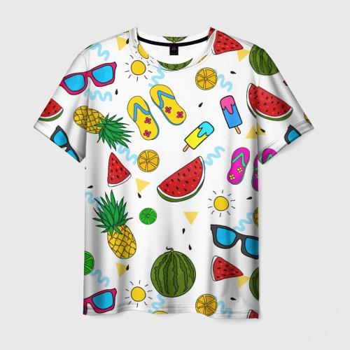 Мужская футболка 3D Летняя