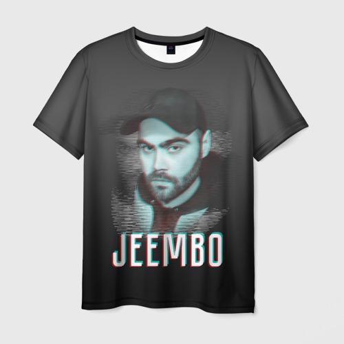Мужская футболка 3D Jeembo glitch