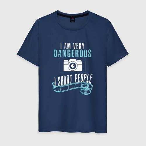 Мужская футболка хлопок Опасный фотограф