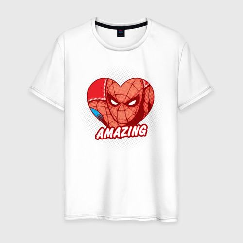Мужская футболка хлопок Spider-Man amazing heart