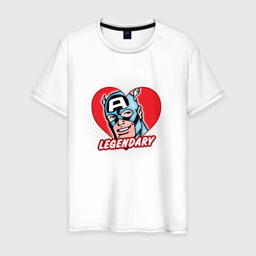 Мужская футболка хлопок Capt. America legendary heart