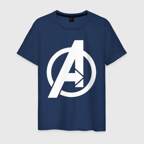 Мужская футболка хлопок Avengers logo white
