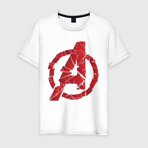 Мужская футболка хлопок Avengers logo red