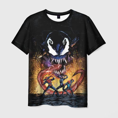 Мужская футболка 3D Venom city