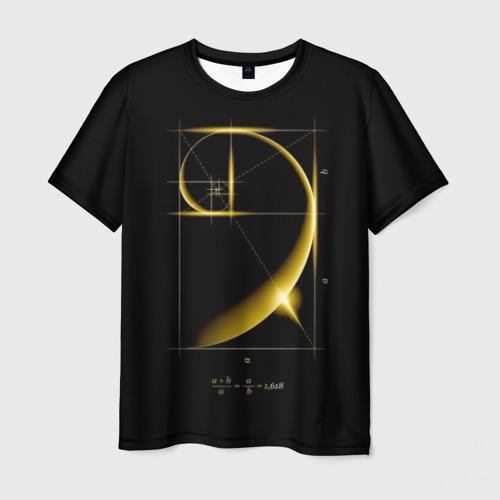 Мужская футболка 3D Золотое сечение
