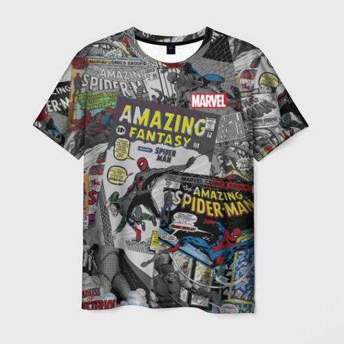 Мужская футболка 3D Spider-man comics
