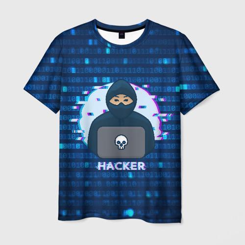 Мужская футболка 3D Хакер