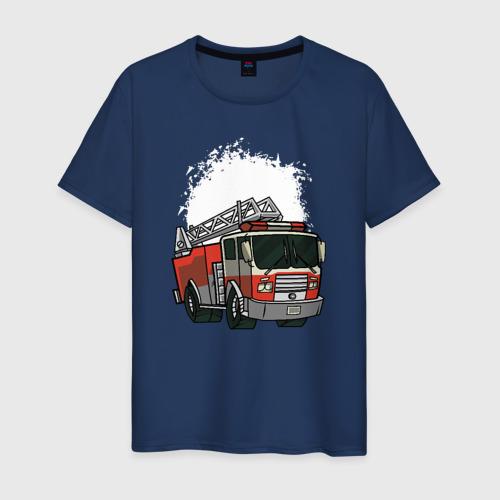 Мужская футболка хлопок Пожарная Машина
