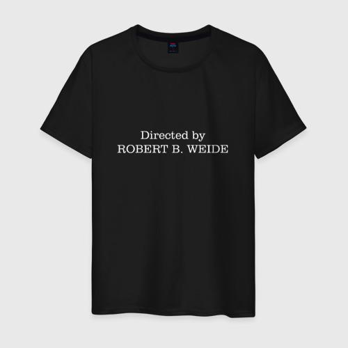 Мужская футболка хлопок directed by robert b weide МЕМ